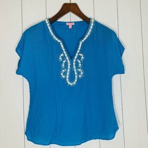 Lilly Pulitzer Womens Size XS Blue Top